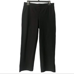 Eileen Fisher Black Stretch Cropped Pant